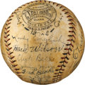 Autographs:Baseballs, 1928 Chicago Cubs Team Signed Baseball....