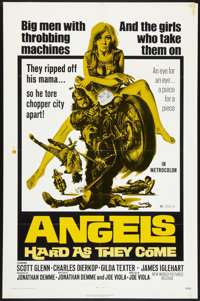"""Angels Hard as They Come (New World, 1971). One Sheet (27"""" X 41""""). Exploitation"""
