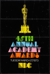 """Academy Awards Poster (AMPAS, 1973). One Sheet (27"""" X 41""""). Miscellaneous"""