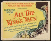 """All the King's Men (Columbia, 1949). Title Lobby Card (11"""" X 14""""). Drama"""