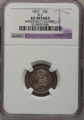 Bust Dimes: , 1831 10C --Improperly Cleaned--NGC Details. AU. JR-2. NGC Census:(5/226). PCGS Population (21/195). Mintage: 771,350. Numi...
