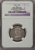 Bust Quarters: , 1837 25C --Improperly Cleaned--NGC Details. Fine. B-5. NGC Census: (2/193). PCGS Population (7/205). Mintage: 252,400. Numi...