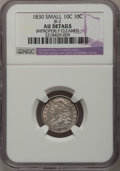 Bust Dimes: , 1830 10C Small 10C--Improperly Cleaned--NGC Details. AU. JR-2. PCGSPopulation (1/5). (#4517). From...