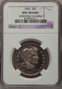 1892 50C --Improperly Cleaned--NGC Details. Unc. NGC Census: (3/625). PCGS Population (12/727). Mintage: 934,000. Numism...