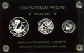 China:People's Republic of China, China: People's Republic of China. Three-piece platinum Panda set 1990,... (Total: 3 coins)