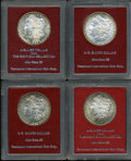 Additional Certified Coins, Set of Four Redfield Morgan Dollars.... (Total: 4 coins)