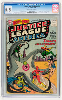 The Brave and the Bold #28 Justice League of America (DC, 1960) CGC FN- 5.5 Cream to off-white pages