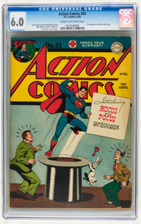 Action Comics #83 (DC, 1945) CGC FN 6.0 Cream to off-white pages