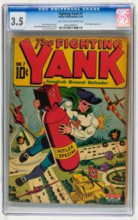 Fighting Yank #7 (Nedor Publications, 1944) CGC VG- 3.5 Light tan to off-white pages