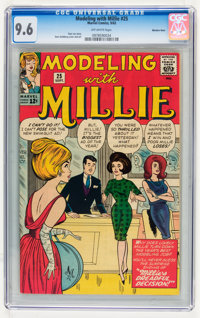 Modeling with Millie #25 Western Penn pedigree (Marvel, 1963) CGC NM+ 9.6 Off-white pages
