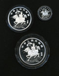 China:People's Republic of China, China: People's Republic of China. Silver Unicorn Three Piece Set 1994,... (Total: 3 coins)