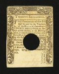 Colonial Notes:Connecticut, Connecticut March 1, 1780 20s About New....