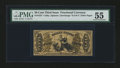 Fractional Currency:Third Issue, Fr. 1357 50¢ Third Issue Justice PMG About Uncirculated 55....
