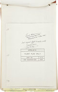 Autographs:Celebrities, Apollo 8 Unflown Flight Plan and Crew Logs, Signed by MissionCommander Frank Borman and Command Module Pilot James Lovell....