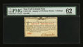 Colonial Notes:New York, New York January 6, 1776 (Water Works) 8s PMG Uncirculated 62....