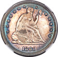 Proof Seated Quarters, 1881 Seated Quarter PR62 NGC....