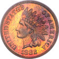 Proof Indian Cents, 1882 Indian Cent PR66 Red and Brown PCGS....