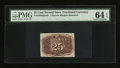 Fractional Currency:Second Issue, Fr. 1283SP 25¢ Second Issue Narrow Margin Back PMG Choice Uncirculated 64 EPQ....