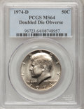 Kennedy Half Dollars, (3)1974-D 50C Doubled Die Obverse MS64 PCGS.... (Total: 3 coins)