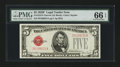 Small Size:Legal Tender Notes, Fr. 1531 $5 1928F Narrow Legal Tender Note. PMG Gem Uncirculated 66 EPQ.. ...