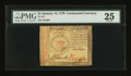 Colonial Notes:Continental Congress Issues, Continental Currency January 14, 1779 $1 PMG Very Fine 25....