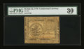 Colonial Notes:Continental Congress Issues, Continental Currency July 22, 1776 $5 PMG Very Fine 30....