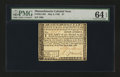Colonial Notes:Massachusetts, Massachusetts May 5, 1780 $7 PMG Choice Uncirculated 64 EPQ....