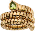 Estate Jewelry:Rings, Peridot, Gold Ring, Bvlgari. ...
