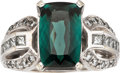 Estate Jewelry:Rings, Indicolite Tourmaline, Diamond, White Gold Ring. ...