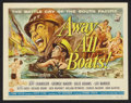 "Movie Posters:War, Away All Boats (Universal International, 1956). Title Lobby Cardand Lobby Cards (6) (11"" X 14"") and Pressbook (Multiple Pag...(Total: 8 Items)"