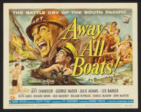 """Away All Boats (Universal International, 1956). Title Lobby Card and Lobby Cards (6) (11"""" X 14"""") and Pressbook..."""