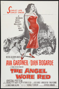 """The Angel Wore Red (MGM, 1960). One Sheet (27"""" X 41""""), Lobby Card Set of 8 (11"""" X 14""""), Pressbook (M..."""