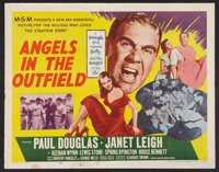 "Angels in the Outfield (MGM, 1951). Half Sheet (22"" X 28"") Style A and Lobby Cards (4) (11"" X 14"")..."