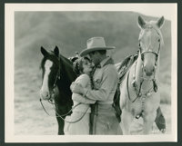 """Jack Holt and Betty Jewel in """"The Mysterious Rider"""" (Paramount, 1927). Photos (3) (8"""" X 10""""). Wester..."""