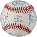 Baseball Collectibles:Balls, 1990 American League All-Stars Team Signed Baseball....