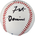 Miscellaneous Collectibles:General, Fats Domino Single Signed Baseball....