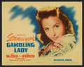 "Movie Posters:Drama, Gambling Lady (Warner Brothers, R-1942). Title Lobby Card (11"" X14""). Drama.. ..."