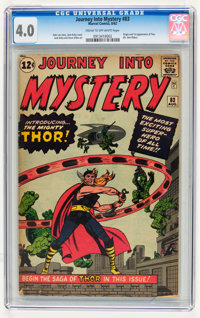 Journey Into Mystery #83 (Marvel, 1962) CGC VG 4.0 Cream to off-white pages