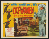 """Cat-Women of the Moon Lot (Astor Pictures, 1954). Title Lobby Card and Lobby Card (11"""" X 14""""). Science Fiction..."""