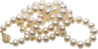 Cultured Pearl, Gold Necklace