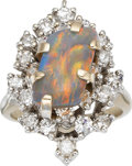 Estate Jewelry:Rings, Opal, Diamond, White Gold Ring. ...