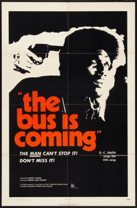 """The Bus is Coming (William Thompson International, 1971). One Sheets (2) (27"""" X 41"""") Regular and Advance. Blax..."""
