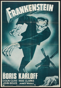 "Frankenstein (Cinema International, R-1960s). Spanish Language One Sheet (27.5"" X 40""). Horror"