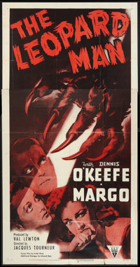 "The Leopard Man (RKO, R-1952). Three Sheet (41"" X 81""). Thriller"