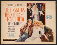 "The Greeks had a Word for Them (United Artists, 1932). Title Lobby Card (11"" X 14""). Comedy"