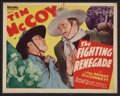 """Movie Posters:Western, The Fighting Renegade (Victory Pictures, 1939). Title Lobby Card and Lobby Card (11"""" X 14""""). Western.. ... (Total: 2 Items)"""
