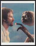 """Movie Posters:Science Fiction, E.T. The Extra-Terrestrial (Universal, 1982). Autographed MagazinePage (10.25"""" X 12.5""""). Science Fiction.. ..."""