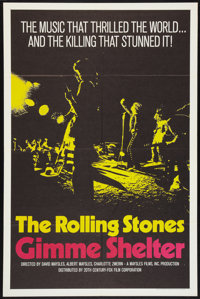 """Gimme Shelter (20th Century Fox, 1970). One Sheet (27"""" X 41""""). Rock and Roll"""