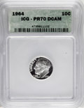 Proof Roosevelt Dimes: , 1964 10C PR70 Deep Cameo ICG. PCGS Population (2/0). NumismediaWsl. Price for NGC/PCGS coin in PR70: $...