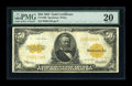 Large Size:Gold Certificates, Fr. 1200 $50 1922 Gold Certificate PMG Very Fine 20. . ...